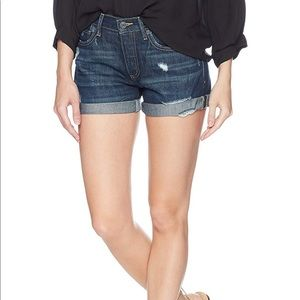 NEW lucky brand boyfriend denim jean shorts 28 6